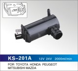 12V/24V OEM Quality Windshield Washer Pump for Toyota, Honda, Peugeot or Universal