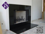 5cm Polished Black Galaxy Granite Hearth Fireplace for Building Decoration