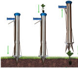Seeding Tool Handheld Transplanter Stainless Steel Planter Machine, Seedling Machine Seeder Vegetable Seed Planter