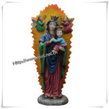 Polyresin Religious Figurine Resin Virgin Mary Statue (IO-ca035)