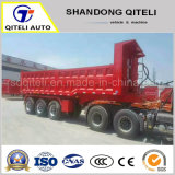 Side Tipper Trailer Semi Dump Trailers Tipping Trailer with China Hyva Cylinder End