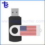 Promotional Metal Swivel USB Flash Stick Driver with Customized Logo