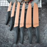 Cookware/ Set of 6PCS Non-Stick Kitchen Knife with Block (KSE161)