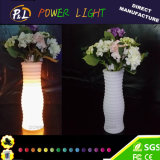 Home Office Garden Plastic LED Plant Flower Vase for Decoration