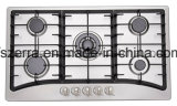 Five Burner with Cast Iron Pan Support Built in Stove Home Kitchen (JZS85201)