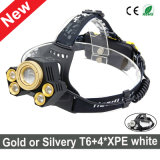Newest Style Ultra Bright CREE T6+4*XPE LED Headlamp
