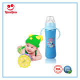 Antibacterial Stainless Steel Baby Bottle with Handles 180ml/240ml