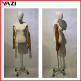 Fabric Wrapped Female Torso Mannequin with Wooden Arm