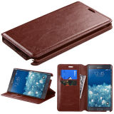 Factory Wholesale PU Leather Wallet Case for Samsung Note Edge