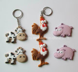 Custom Personalized Cheap Soft 3D PVC Keychain with Animals
