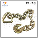 Wholesale G70 Transport Chain with Eye Grab Hook Delta Ring