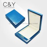 Blue Glossy Lacquered Wooden Necklace Box for Wedding Gift