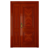 Oppein Classical Red Unequal Double Wooden Interior Door (MSGZ08)