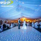 Lighted up Portable White Wedding LED Starlit Dance Floor Panels Hire Price