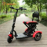 "36V 300W Rear Motor 10ah Lithium Battery 10"" Frame Electric Tricycle Moped Three Wheel Mobility Scooter Foldable Mobility Scooter for Elder People"