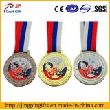 2D Zinc Alloy Metal Souvenir Award Sport Medal with Ribbon