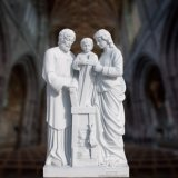 Stone Carving Marble Religious The Holy Family Statue Sculpture
