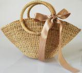 Trendy High Quality Women Bag Handmade Straw Beach Tote Handbag