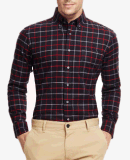 Top-Quality Men's Spring Checked Flannel Long-Sleeve Casual Leisure Shirts