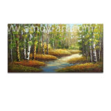 Aspen Tree Oil Paintings on Canvas for Home Decor