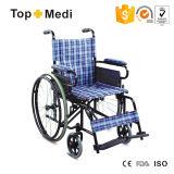 Fashion Outdoor Lightweight Steel Wheelchair with Lower Price