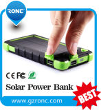 Waterproof 8000mAh Solar Charger Power Bank with Dual USB Ports
