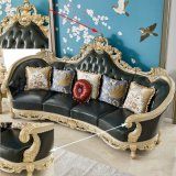 Chinese Sofa Furniture Factory Wholesale Wood Carved Royal Leather Sofa