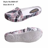 Ladies Lazy Tip Binding Slipper EVA Printed Upper Women Flat Casual Shoes