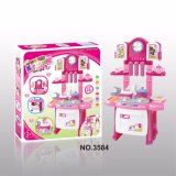Electrical Pretend Home Foldable Kitchen Stage Set, Music Light, Kid Educational Toys