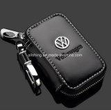Leather Key Wallet -Premium Zipper Genuine Leather Car Keychain