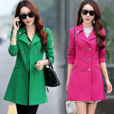 Fashion Women Coat Shape Coat Windbreaker Trench Coat