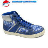 2017 New Design Style Casual Shoes for Man with Flower Print