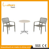 Cheap Waterproof Aluminum Silver Leisure Coffee Hotel Table and Chairs Outdoor Garden Furniture