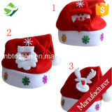 Christmas Santa Red Hat Cozy Soft Warm Adult Kid Unisex Santa Claus Cap Headgear