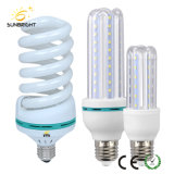 Full Spiral Energy Saving Lamp and LED Bulb