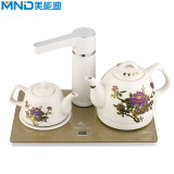 2018 New Design Chinese Style Double Kettle Electric Tea Pot with Keap Warm Function