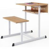 Cheap School Desk and Chair Primary School Furniture/Attached School Desks and Chair