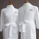 China Supplier Cheaper Promotional 100% Cotton Waffle Bath Robe