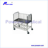 Hospital Moving Stainless Steel Baby Cot