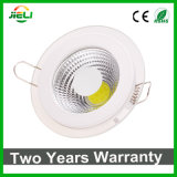 Hot Sale Round Aluminum with Glass 5W/12W/18W COB LED Panel Light
