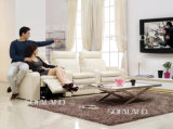White Color Leather Function Home Theatre 3 Seat