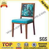 Hotel Aluminum Wood Look Dining Chair