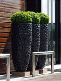Outdoor Tapered Round Fiberglass Planter (FO-226)