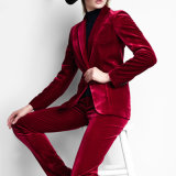 Bospoke Fashionable Fancy Design Red Color Fannel Suit