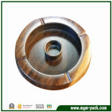 Eco-Friendly Circular Wood Ashtray for Home and Office Decoration