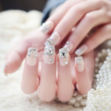 Nail Art for Nail Decoration with Crystal and Flowers Nail Art