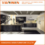 Luxury Black Solid Wood Kitchen Cabinet with Shaker Pattern Door