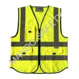 En20471 3m Reflective Tape Safety Vest with Pockets