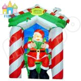 Inflatable Santa Claus House Toy Shop for Christmas Decoration