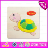 Hot New Product for 2015 DIY Wooden Shape Puzzle Toy, Cheap Multiple Shape Puzzles, Cute Tortoise Design Wooden Puzzle Toy W14c090